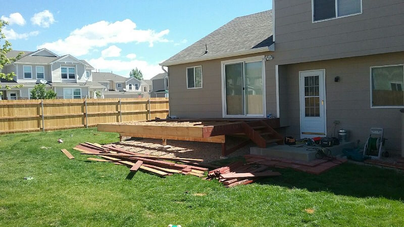 Grand Mesa Deck Remodel Before Picture