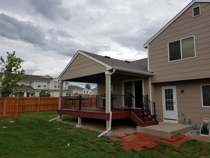 Grand Mesa Deck Remodel with Patio Cover After Picture