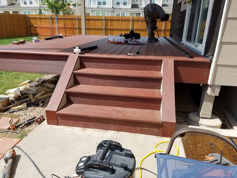 Grand Mesa Deck Remodel During Construction Picture