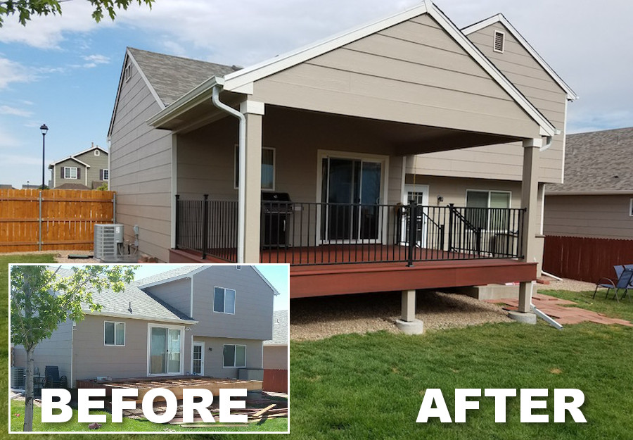 Colorado Springs Deck Builder | J&J Construction, Inc. | Grand Mesa Deck Build with Patio Cover